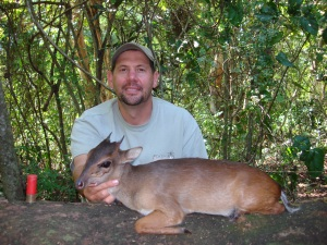 Steve and a well earned Blue Duiker!