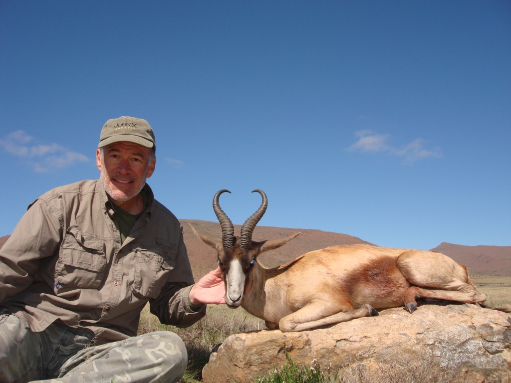 Dennis with a prized Copper Springbuck.