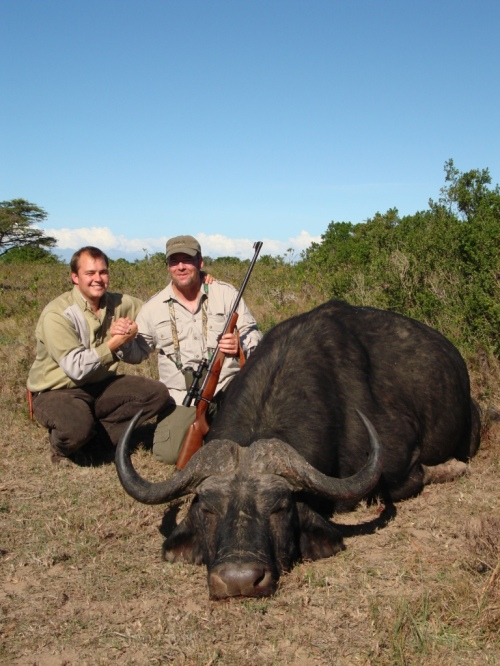 Brett took this great Cape Buffalo earlier in his hunt.