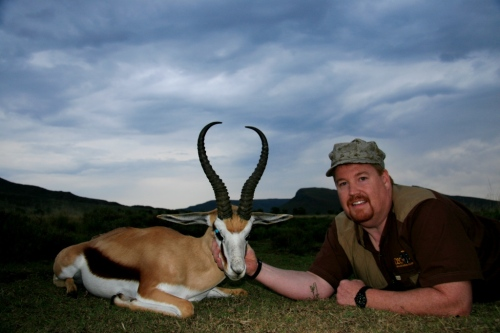 "The Common Springbuck of 2012 – were ridiculous. This was the hardest category to select. So many great rams were hunted during the season, but in the end it came down to this unbelievable ram by Steve Travis. Steve's ram came in at 17"" with heavy bases and a great shape. We reckon with our current management structures in place we'll be seeing rams of this quality in the future, but that will be in 4-5 years time - for now this is as good as it's ever been."