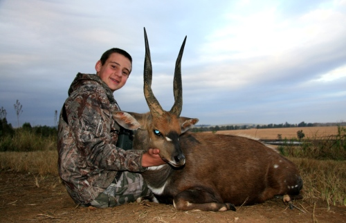 Perfect in every way? Hunter Robinson and his Cape Bushbuck of a lifetime. Words cannot describe the envy from fellow hunters who've seen this picture ever since our hunt in July. Another job well done young man – Can't wait for our next adventure!