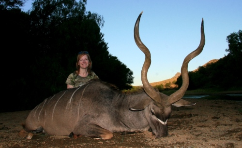 For Sabrina it was her near perfect Kudu - the spotting, stalk, set up and tense moments prior to the old bull stepping into the only available clearing before squeezing off the 300 win mag - we both knew it was as perfect a hunt as we could ever have dreamt of.  Not to mention the view!