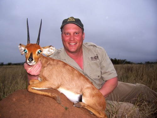 Jeff Edland saw the hunting gods smilling down on him with beams of luck. So many great trophies, only one to choose - we went with one of our favourites, a world class Steenbuck!