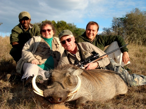 "Hugh Friedline's Warthog was what we consider a ""boss hog"", and that's what he remains. To get true perspective of this Warthog, consider the fact that there are four people sitting in the picture behind the pig, everything was huge on him."