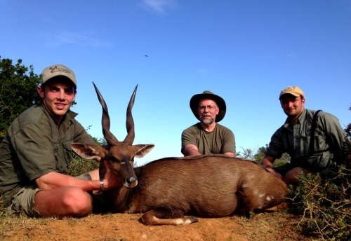 "Our father/son combo of Bob and Kevin Stone, together with PH, Ross Hoole, combined for the Bushbuck of a lifetime – A 16"" + ram that will take a lot to beat this season."