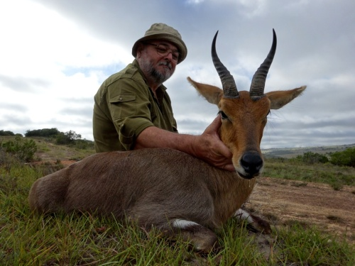 "A Mountain Reedbuck was one of Max's priorities – he enjoyed hunting them so much that he took two great rams – this his 8"" monster."