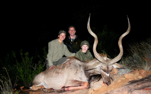 For Seth it was a epic hunt on a great East Cape Kudu. The stalk was long, in difficult terrain, but more concerning was the fading light. In the end it was up to him to make our one chance count... what a great hunt!