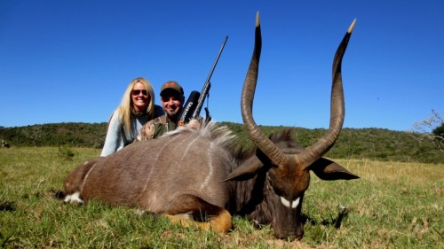 Chad and Jennifer Fraughton teamed up with Juan MacDonald for their first taste of Africa too. Chad proved to be a wealth of knowledge on the system, and could be mistaken for a professional shot from Gunwerks. The man was a master and one of the most important team players in the group.