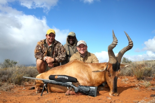": Gunwerks professional, Garret Wall, experienced Africa for the very first time with head Professional Hunter, Greg ""Roy boy"" Hayes. Garret proved to be a wealth of knowledge on the shooting system and watching him operate was a privilege in itself."
