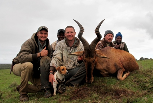 """A fantastic 26"""" Red Hartebeest proved to be the last trophy on his safari, and so too the last trophy of our season in South Africa - it was fitting that a bull of such class would close off a world class season in the south."""